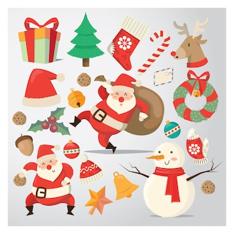 Weihnachtslustiger aufkleber