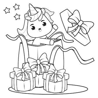 Weihnachtsmalbuch mit süßem einhorn10