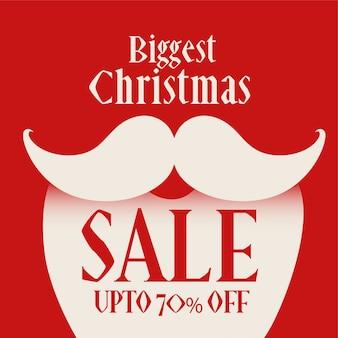 Weihnachtsmann-abbildung für weihnachtsverkaufshintergrund