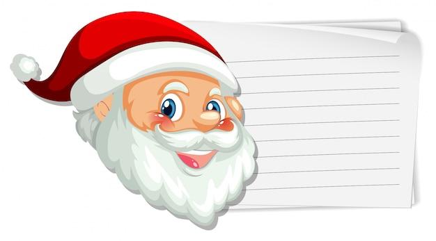 Weihnachtsmann auf der leeren notiz