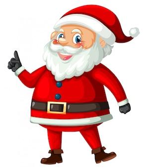 Weihnachtsmann auf weißem hintergrund