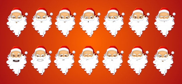 Weihnachtsmann-ausdrücke eingestellt