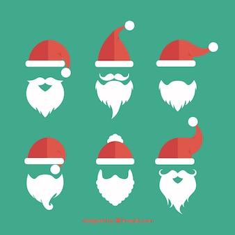 Weihnachtsmann bart sammlung