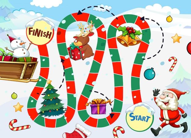 Weihnachtsmann brettspiel vorlage
