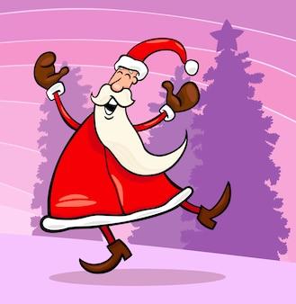 Weihnachtsmann cartoon illustration