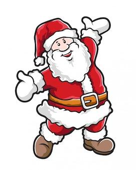 Weihnachtsmann-cartoon-vektor