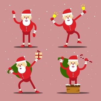 Weihnachtsmann-charakterillustration