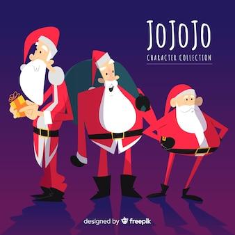 Weihnachtsmann-Charaktersammlung