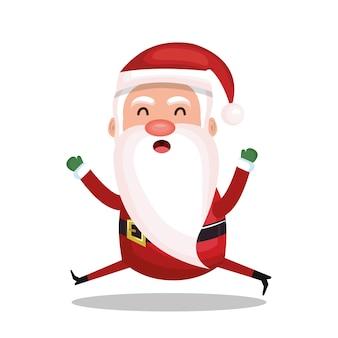 Weihnachtsmann-charaktervektor-illustrationsdesign froher weihnachten