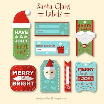 Weihnachtsmann-etiketten sammlung