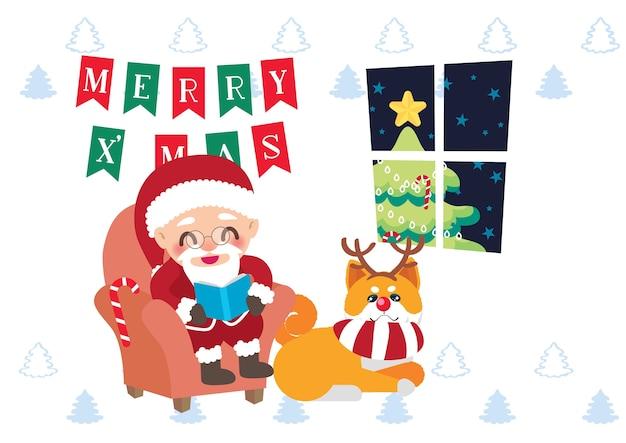 Weihnachtsmann-feierweihnachtstag-hintergrundvektor