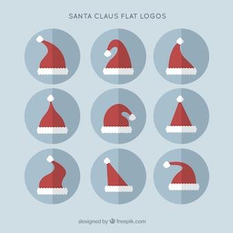 Weihnachtsmann flach logos