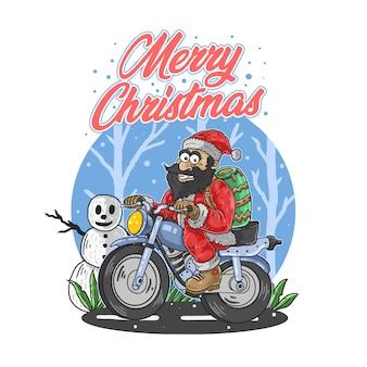Weihnachtsmann frohe weihnachten illustration vektor