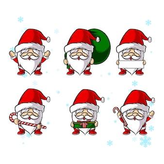 Weihnachtsmann gesetzt