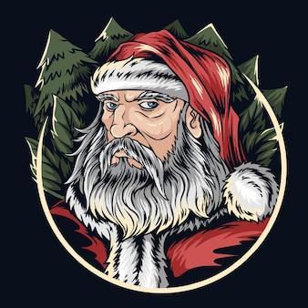 Weihnachtsmann gesicht