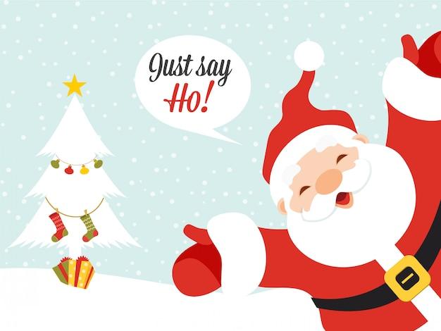 Weihnachtsmann grußkarte