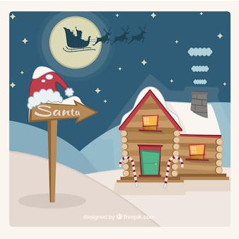 Weihnachtsmann-haus
