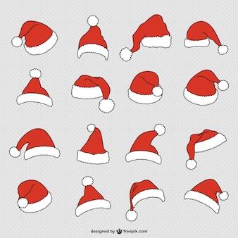 Weihnachtsmann-hüten sammlung