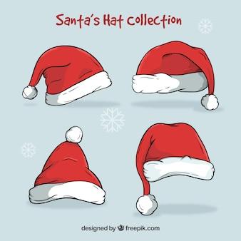 Weihnachtsmann hut gesetzt