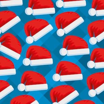 Weihnachtsmann-hutmuster