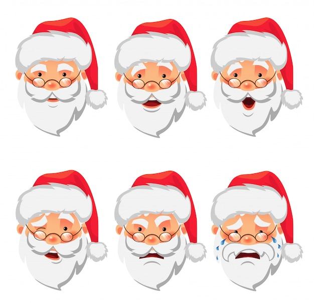 Weihnachtsmann-icon-set