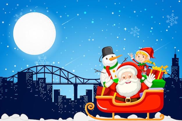 Weihnachtsmann in der stadt