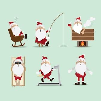Weihnachtsmann-kamin sammlung