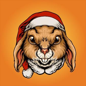 Weihnachtsmann-kaninchen-abbildung