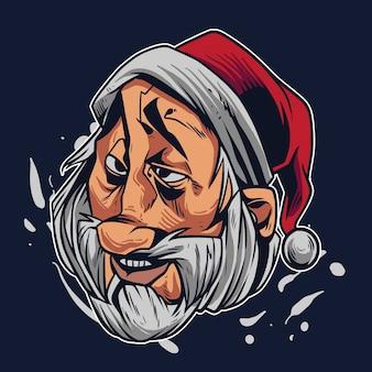 Weihnachtsmann-karikaturillustration