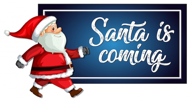 Weihnachtsmann kommt vorlage