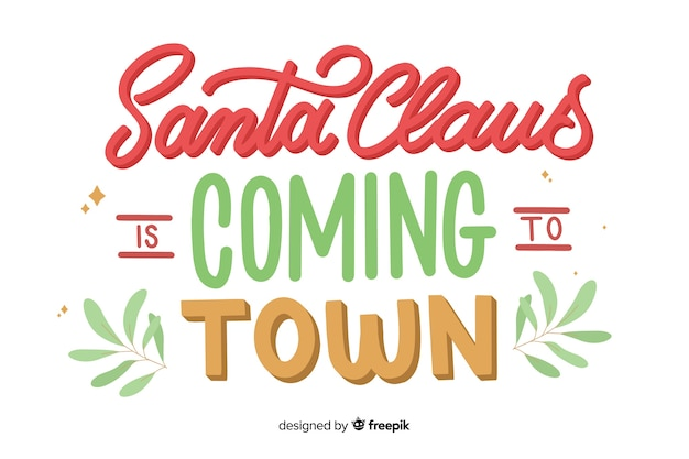 Weihnachtsmann kommt zur stadtbeschriftung