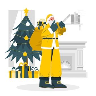 Weihnachtsmann-konzeptillustration