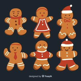 Weihnachtsmann-lebkuchen-plätzchen-sammlung