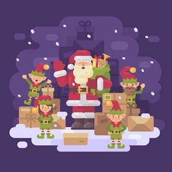 Weihnachtsmann lieferservice