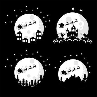 Weihnachtsmann-logo-design-illustrationssammlung