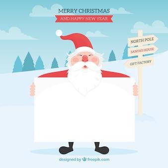 Weihnachtsmann mit brief