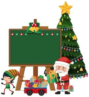 Weihnachtsmann mit elf tafel vorlage