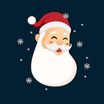 Weihnachtsmann mit frohe weihnachten-schriftzug-design. kreatives konzept für urlaubsgrüße.