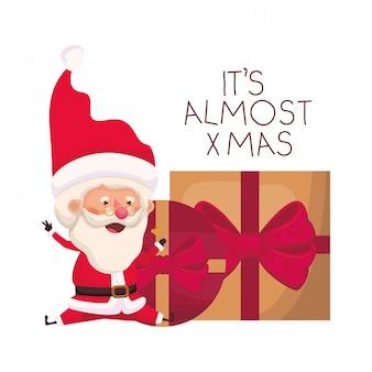 Weihnachtsmann mit geschenkbox-avataracharakter