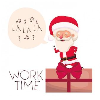 Weihnachtsmann mit geschenkboxavataracharakter