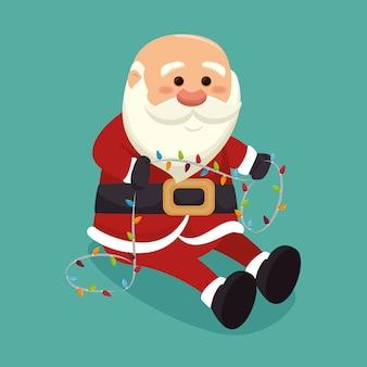 Weihnachtsmann mit lichtern