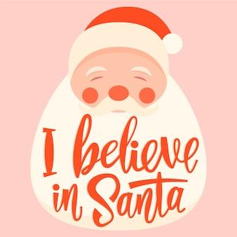 Weihnachtsmann mit roter schrift