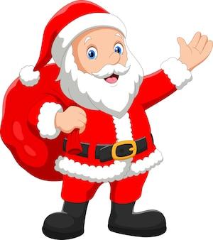 Weihnachtsmann mit sack geschenke