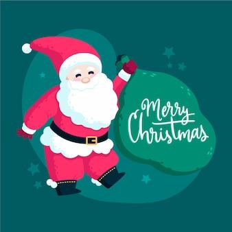 Weihnachtsmann mit schriftzug