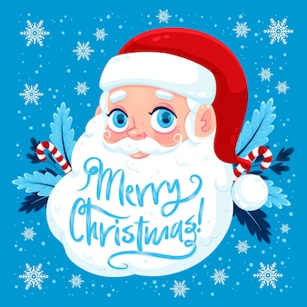Weihnachtsmann mit typografie