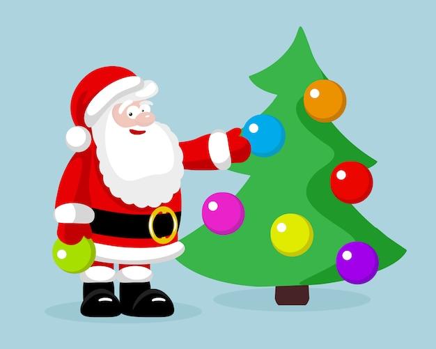 Weihnachtsmann mit weihnachtsbaum