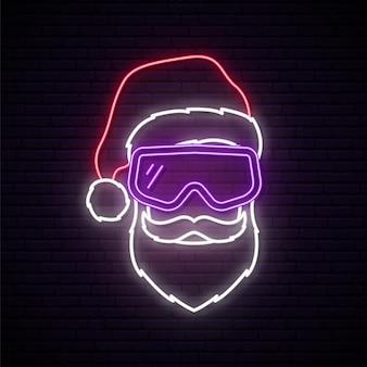Weihnachtsmann mit weißem bart