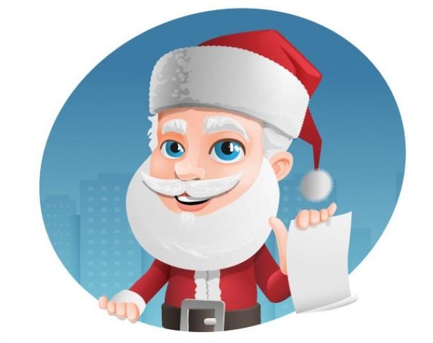 Weihnachtsmann mit wunsch-liste