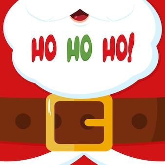 Weihnachtsmann-mitteilungsfahne mit text ho ho ho
