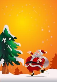 Weihnachtsmann-plakat orenge